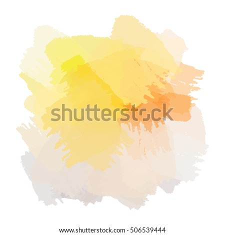 Chaotic colorful dabs on a white background. A vector element for your design.