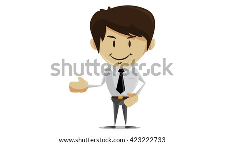 Character Businessman Standing