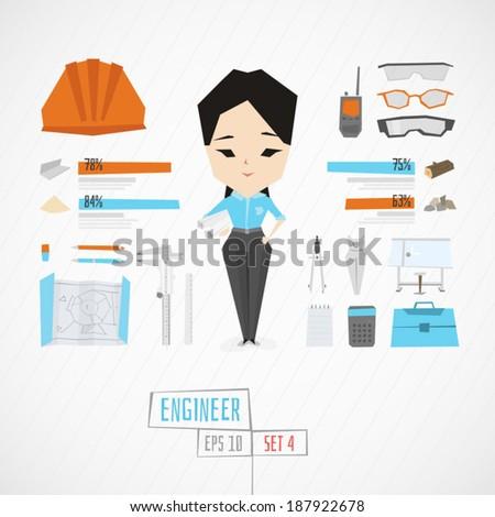 Character engineer vector illustration - stock vector
