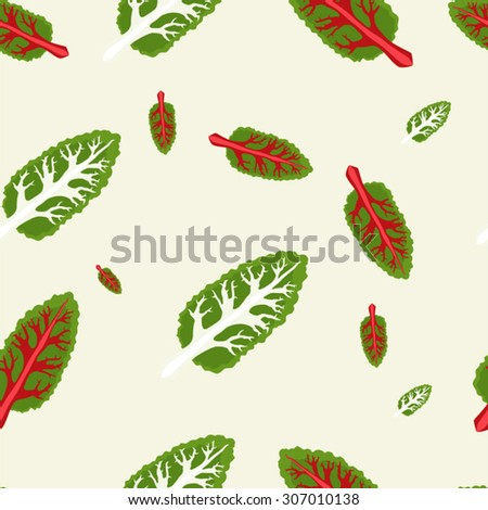Chard leafs seamless pattern vector illustration