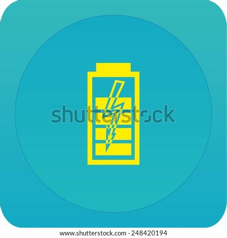 charge level indicator icon - stock vector