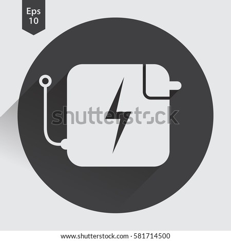Charger Flat Icon Simple Sign Battery Stock Photo Photo Vector