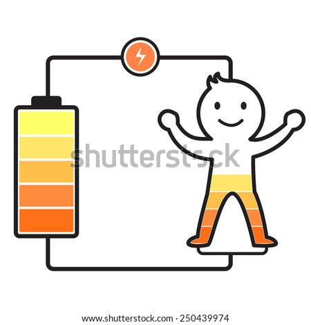 Charging your life - stock vector