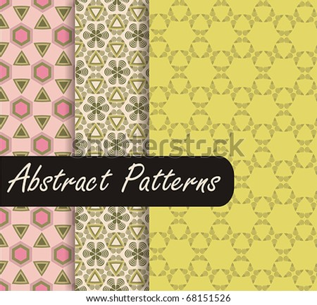 Charming Green Patterns - stock vector