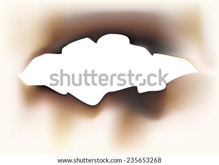charred paper - stock vector