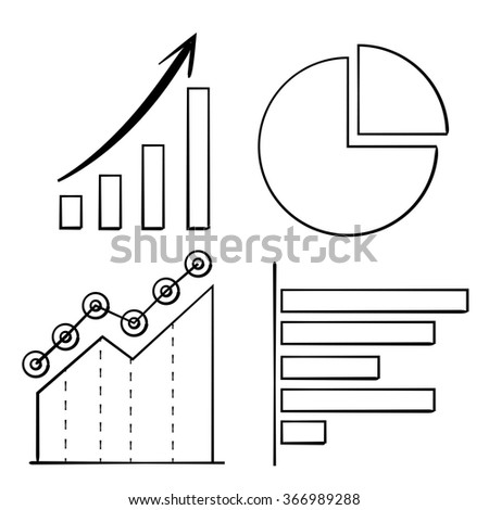 chart and graph, diagram - stock vector