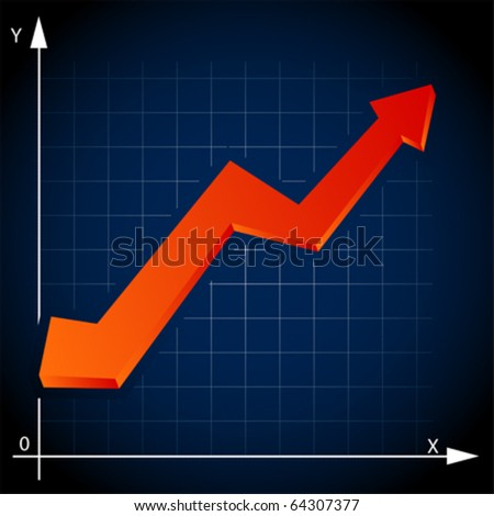 chart  arrow, vector - stock vector