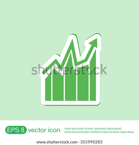 chart diagram figure.  business icon