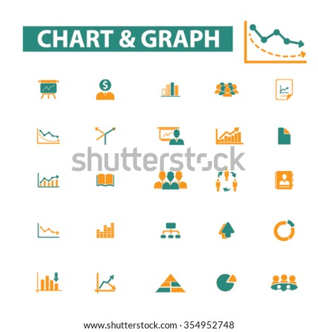 chart, graph, business presentation icons, marketing presentation  icons, signs vector concept set for infographics, mobile, website, application  - stock vector