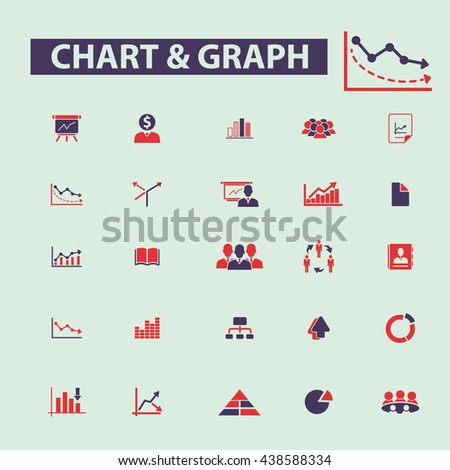 chart & graph icons - stock vector