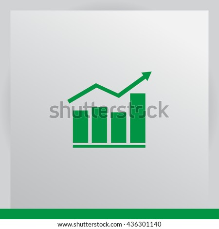 Chart icon, vector illustration. Flat design style