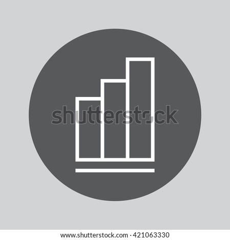 chart line icon, outline vector logo illustration, linear pictogram isolated on gray