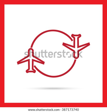 Charter flight - stock vector