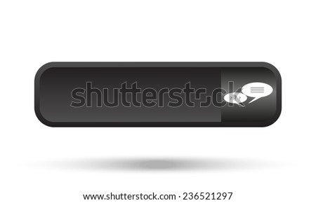 chat black button for a site, vector
