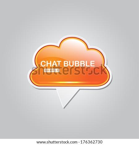 Chat Bubble Talk Balloon Vector Icon - stock vector
