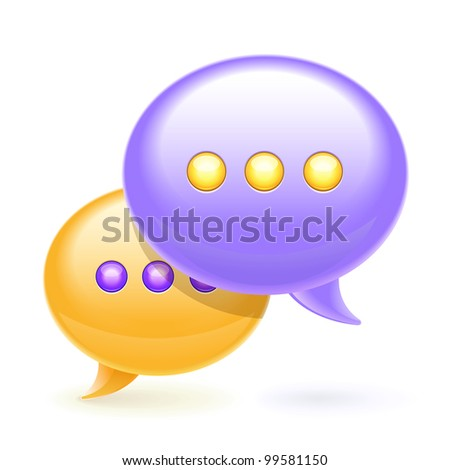 Chat bubbles icon,eps10 vector illustration - stock vector