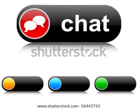 chat buttons - stock vector