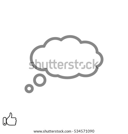chat cloud dialog icon, vector illustration EPS 10