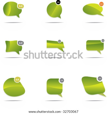 Chat design elements - stock vector
