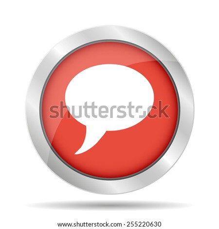 Chat Flat Icon . Vector EPS 10 - stock vector
