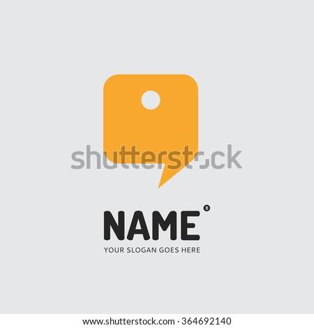 Chat form, logo design vector template. Symbol concept icon. - stock vector