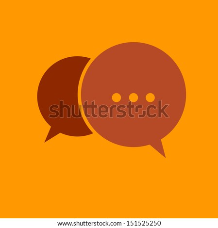 Chat icon - stock vector