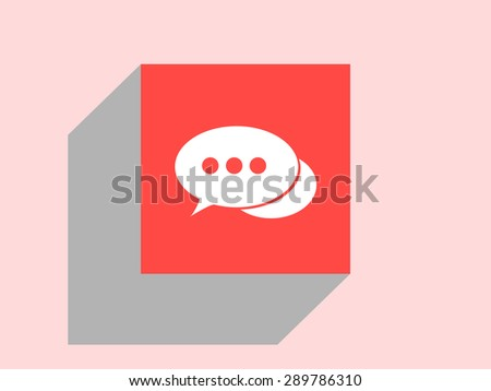 Chat icon, vector illustration. Flat design style. - stock vector