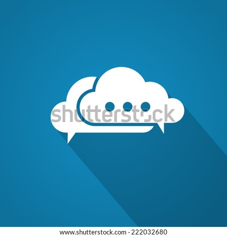 Chat icon with shadow - stock vector