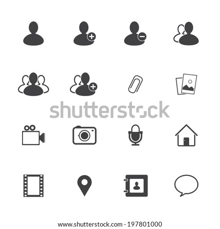 Chat icons set - stock vector