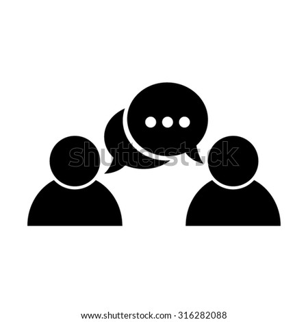 chat people - vector icon - stock vector