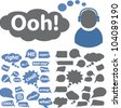 chat & speech bubbles icons set, vector - stock vector