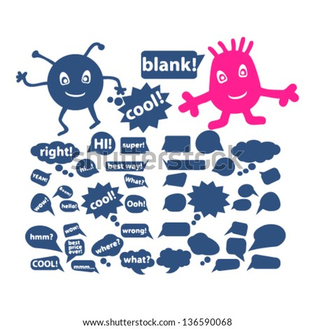chat & speech bubbles, icons, signs for web and design, vector - stock vector