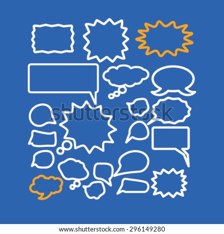 chat, speech, bubbles icons, signs, illustrations set, vector - stock vector