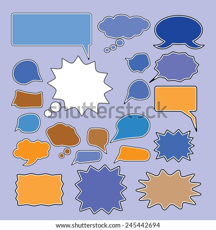 chat, speech, bubbles icons, signs, vector illustrations - stock vector