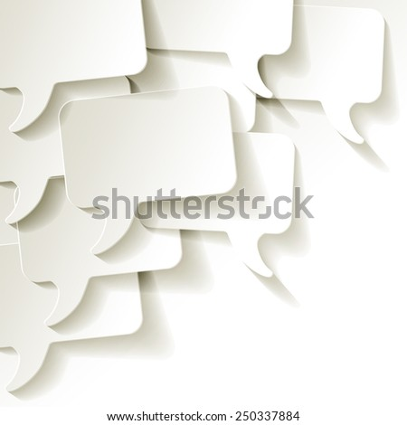 chat speech bubbles vector white background - stock vector