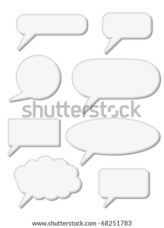 chat speech sign - stock vector