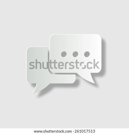 Chat - vector icon with shadow