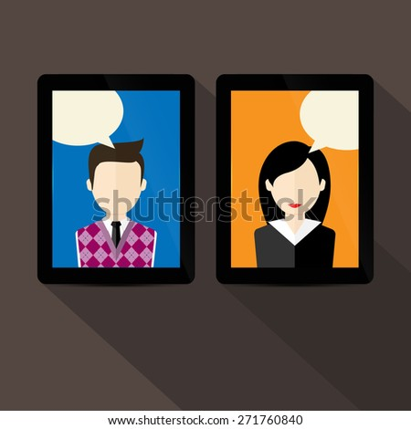 Chat vector illustration - stock vector