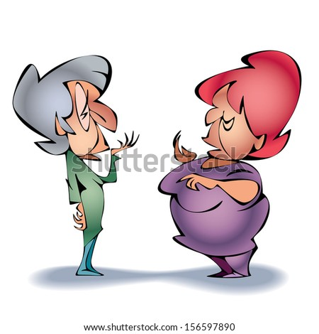old ladies spreading rumours stock images, royalty-free images