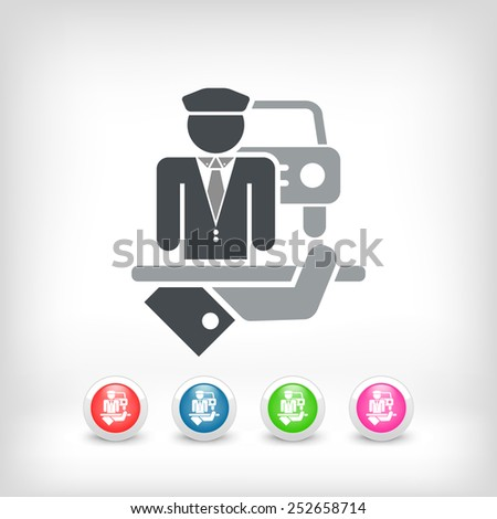Chauffeur icon - stock vector