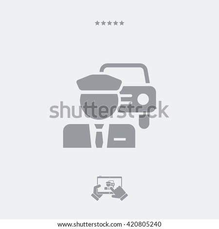 Chauffeur service button icon - stock vector
