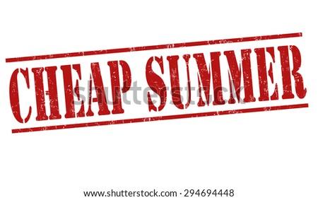 Cheap summer grunge rubber stamp on white background, vector illustration - stock vector