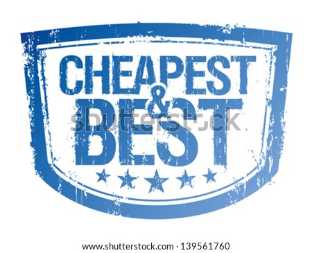 Cheapest and best rubber stamp. - stock vector