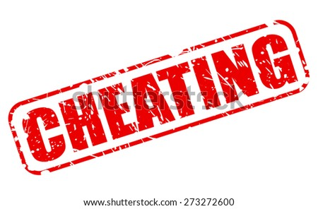 Cheating red stamp text on white - stock vector