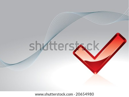 check box background - stock vector