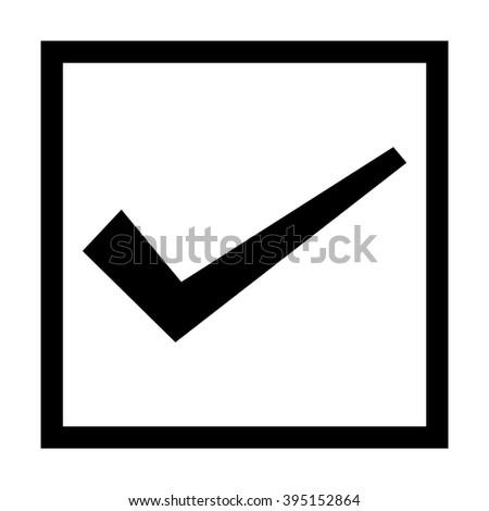 check box icon - stock vector