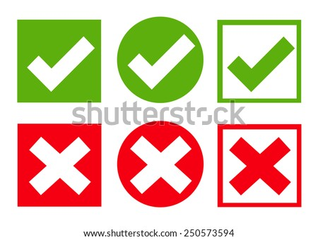 Check box icon set. Vector illustration - stock vector