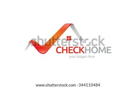 Check Home Logo - stock vector