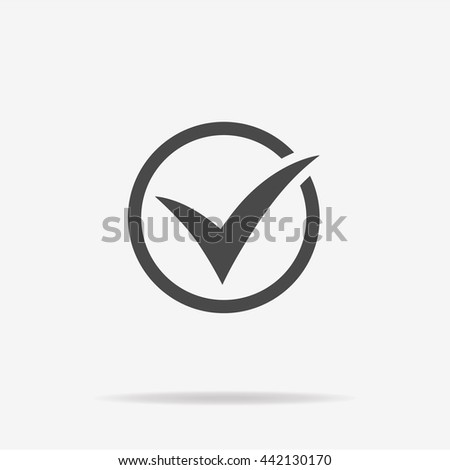 Check icon. Vector concept illustration for design. - stock vector