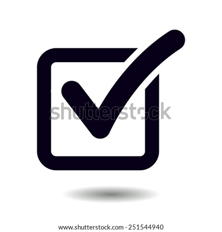 Check list button icon. Check mark in box sign. - stock vector